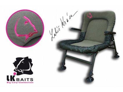 LK Baits křeslo Camo De-Luxe Chair  + Sleva 10% za registraci + ZDARMA kaprové háčky