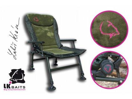 LK Baits křesílko Camo Arm Chair  + Sleva 10% za registraci + ZDARMA kaprové háčky