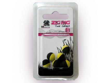 LK Baits ZIG RIG Pop–Up 10 mm – Black/Yellow  + Sleva 10% za registraci