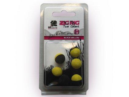 LK Baits ZIG RIG Pop–Up 14 mm – Black/Yellow  + Sleva 10% za registraci