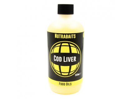 Nutrabaits tekuté přísady - Cod Liver oil 500ml  + Sleva 10% za registraci