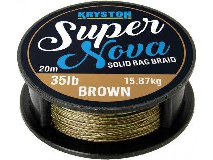 Kryston pletené šňůrky - Super Nova solid braid pískový 35lb 20m  + Sleva 10% za registraci