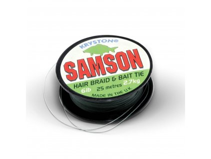 Kryston pletené šňůrky - Samson Green 6lb 25m  + Sleva 10% za registraci