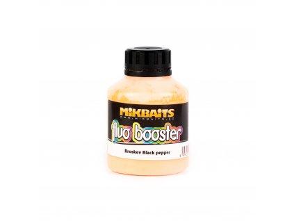 Mikbaits Fluo Booster 250ml - Broskev Black pepper