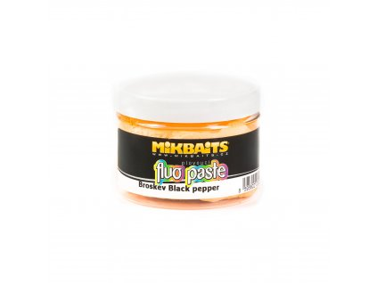 Mikbaits Fluo paste plovoucí těsto 100g - Broskev Black pepper  + Sleva 10% za registraci