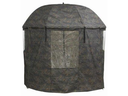 Mivardi Kompletně zakrytý deštník PVC - Camou  + Sleva 10% za registraci + ZDARMA kaprové háčky