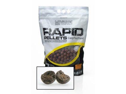 Mivardi Kuličkové pelety Rapid Crazy Liver 2,5 kg 18 mm