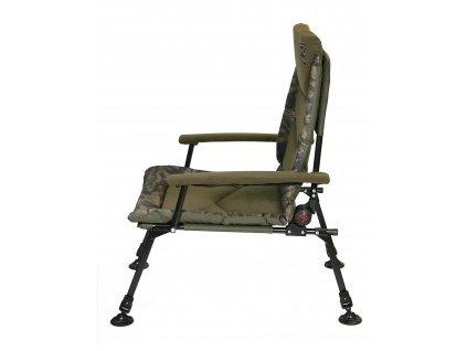 Zfish Křeslo Hurricane Camo Chair  + ZDARMA NGT teflonové háčky Wide Gape