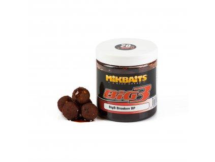 Mikbaits Legends boilie v dipu 250ml - BigB Broskev Black pepper 20mm  + Sleva 10% za registraci