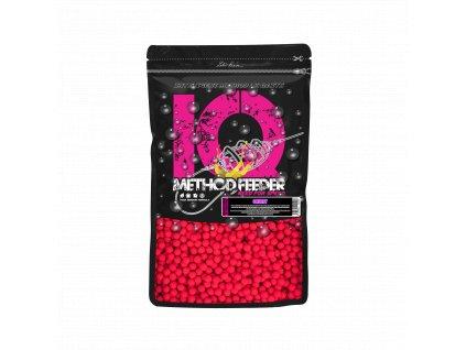 LK Baits IQ Method Feeder Fluoro Boilies 10-12mm,600g Cherry  + Sleva 10% za registraci