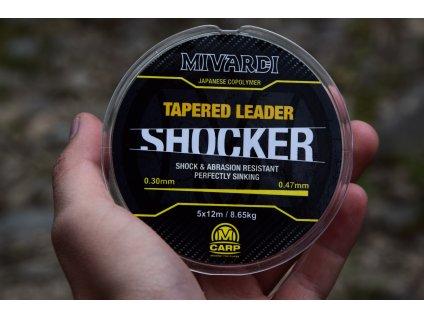 Mivardi Shocker Tapered Leader 0.26-0.47 mm 5x12 m  + Sleva 10% za registraci