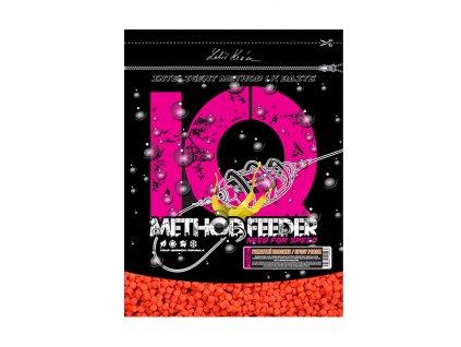 LK Baits IQ Method Feeder Speed Pellets 600g Pikantní broskev/Spicy Peach 2mm