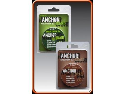 ESP návazcová šňůrka Anchor Braid Weedy Green 15lb, 10 m  + Sleva 10% za registraci