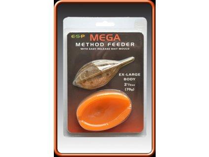 ESP krmítko s formičkou Mega Method Feeder  Mould 100g Extra Large  + Sleva 10% za registraci