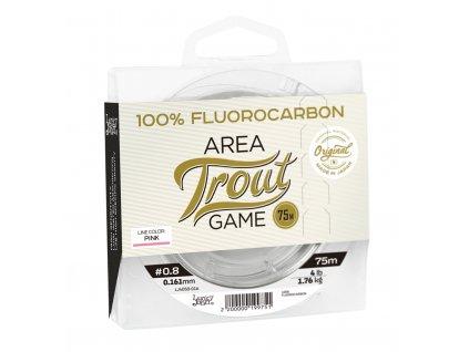 Lucky John fluorocarbon Area Trout Game Pink Line 75m 0,180mm 2,20kg  + Sleva 10% za registraci
