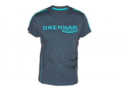 Drennan triko T-Shirt Grey/Aqua  + Sleva 10% za registraci