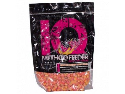 LK Baits IQ Method Feeder Corn 1kg Spicy Peach