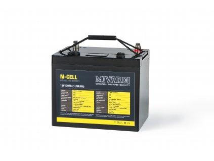 Lithiová baterie M-CELL 12V 100Ah + 20A nabíječka  + Sleva 10% za registraci + ZDARMA Spomb zakrmovací raketa Midi