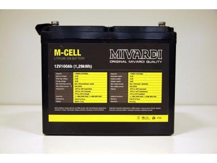 Mivardi Lithiová baterie M-CELL 12V  + Sleva 10% za registraci