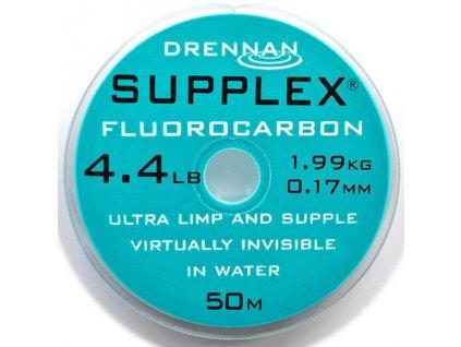 Drennan vlasec Supplex Fluorocarbon 50m 0,9lb 0,075mm  + Sleva 10% za registraci