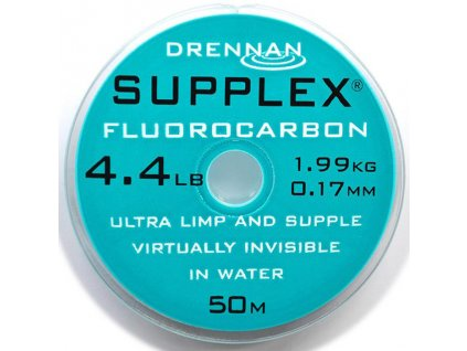 Drennan vlasec Supplex fluorocarbon 50m 3,3lb 0,15mm  + Sleva 10% za registraci