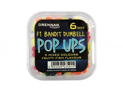 Drennan plovoucí nástrahy F1 Bandit Dumbells Pop Ups 6mm  + Sleva 10% za registraci