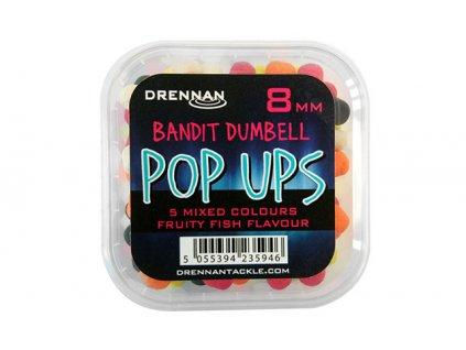 Drennan plovoucí nástrahy Bandit Dumbell Pop Ups 8mm  + Sleva 10% za registraci