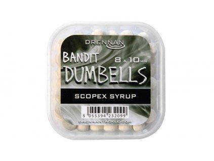 Drennan nástrahy Bandit Dumbells 8  10 mm Scopex Syrup  + Sleva 10% za registraci