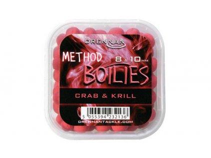 Drennan nástrahy Method Boilies 8 & 10 mm Crab & Krill  + Sleva 10% za registraci
