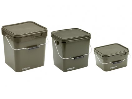 Trakker Products Kbelík - Olive Square Container  + Sleva 10% za registraci