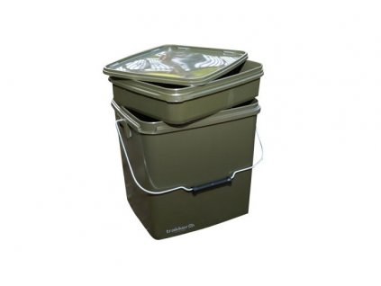 Trakker Products Kbelík – Olive Square Container 13L  + Sleva 10% za registraci