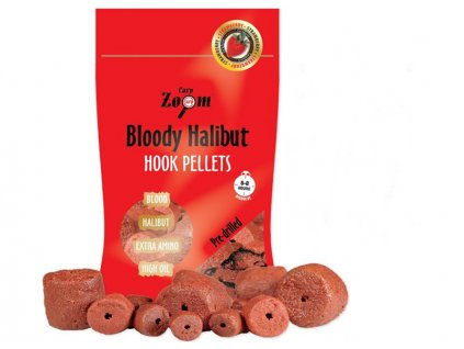 Strawberry Halibut Hook Pellets - s otvorem - 150 g/8 mm/Strawberry