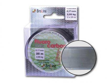 BroLine s.r.o. 100% Fluorocarbon/2 x 25 m, 0,13 mm, 1,70 kg  + Sleva 10% za registraci