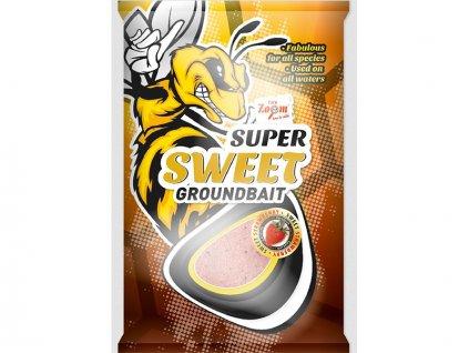 Carp Zoom Super Sweet Groundbaits - 1 kg/Sladká jahoda  + Sleva 10% za registraci