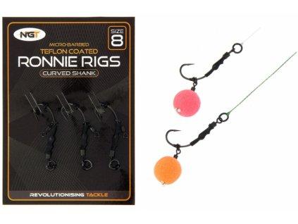 NGT Montáž Ronnie Rig & Teflon Hooks 3 pcs  + Sleva 10% za registraci
