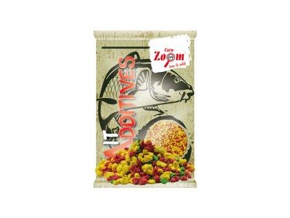 Carp Zoom Bait Additive Crumbs (anglická vločka) - 800 g/mix barev  + Sleva 10% za registraci