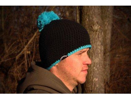 Kulich Carp´R´Us - Beanie black -blue  + Sleva 10% za registraci