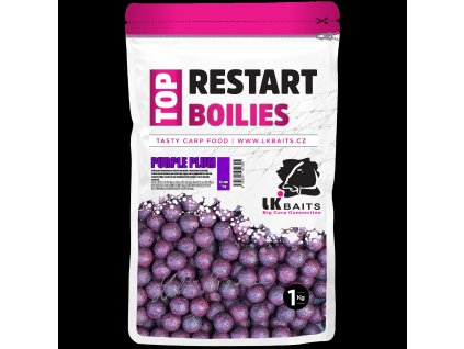 LK Baits Top ReStart Boilies Purple Plum  + Sleva 10% za registraci