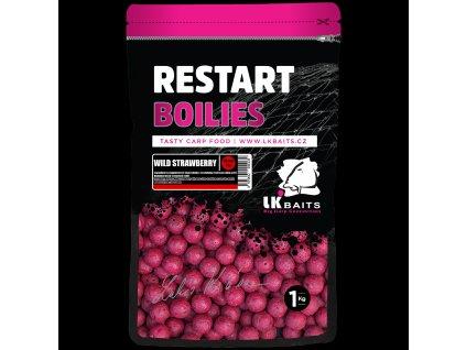 LK Baits Boilies ReStart Wild Strawberry 14 mm, 1kg  + Sleva 10% za registraci