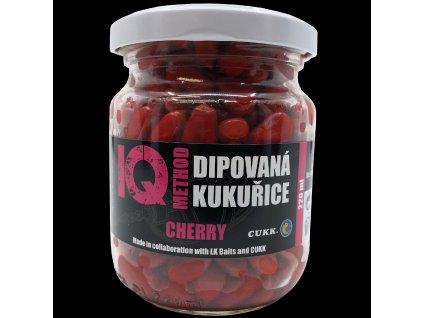 LK Baits IQ Method Dipovaná kukuřice Cherry  + Sleva 10% za registraci