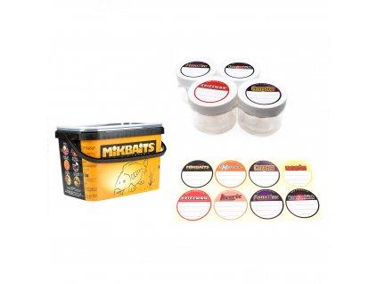 Mikbaits Kelímky a kbelíky - Sada 4 kelímků + samolepky + 5l kbelík  + Sleva 10% za registraci