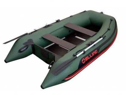 Nafukovací čluny Elling - Pilot 280 s pevnou podlahou, zelený  + Sleva 5% za registraci