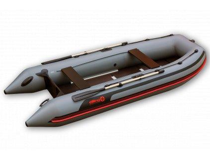 Nafukovací čluny Elling - Pilot 370 s pevnou podlahou, šedý  + Sleva 10% za registraci