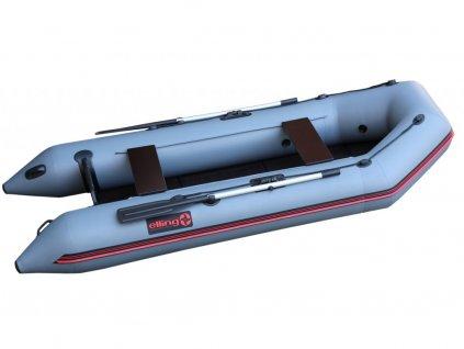 Nafukovací čluny Elling - Patriot 310 s pevnou skládací podlahou, šedý  + Sleva 10% za registraci