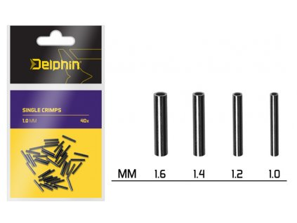 Delphin Single CRIMPS /40ks  + Sleva 10% za registraci