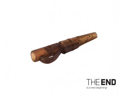 Závěsný PIN klip s gumičkou THE END / 10ks  + Sleva 10% za registraci