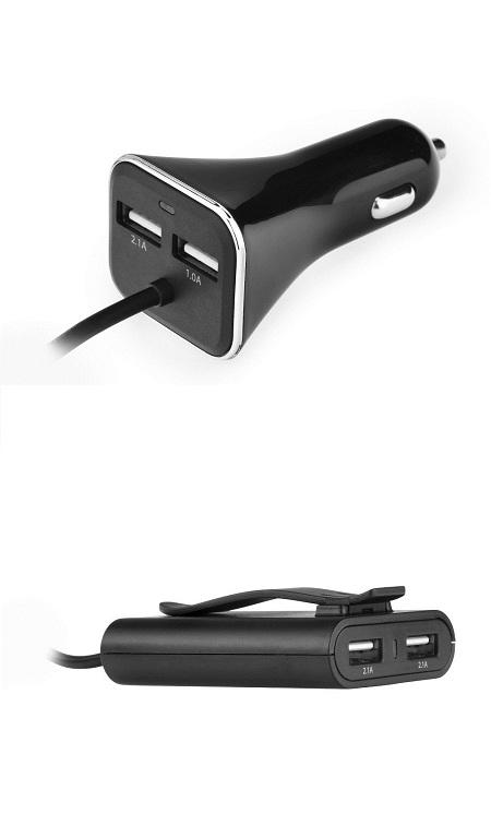 Nabíječka 4 x USB, 7,3 A