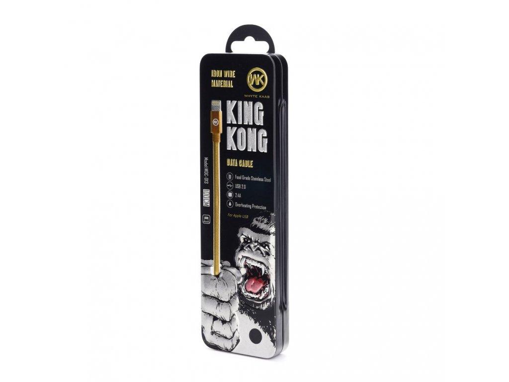 Kabel WK-Design Monkey USB - Lightning metalický/ černý