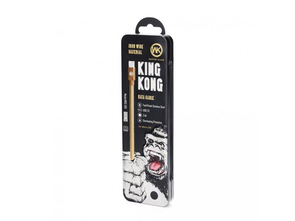 Kabel WK-Design Monkey USB - Micro USB metalický/ černý