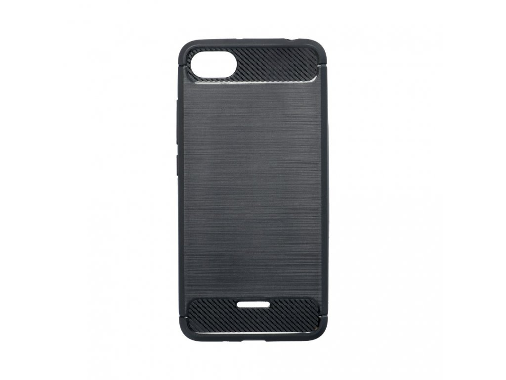 Pouzdro Forcell Carbon back cover pro XIAOMI Redmi 6A černé